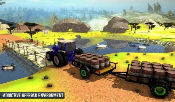 Cargo Tractor Trolley Simulator Farming Game 2019 screenshot 2