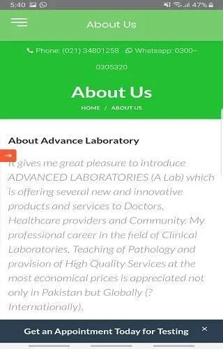 Advanced Laboratories (Pvt.) Ltd. screenshot 5