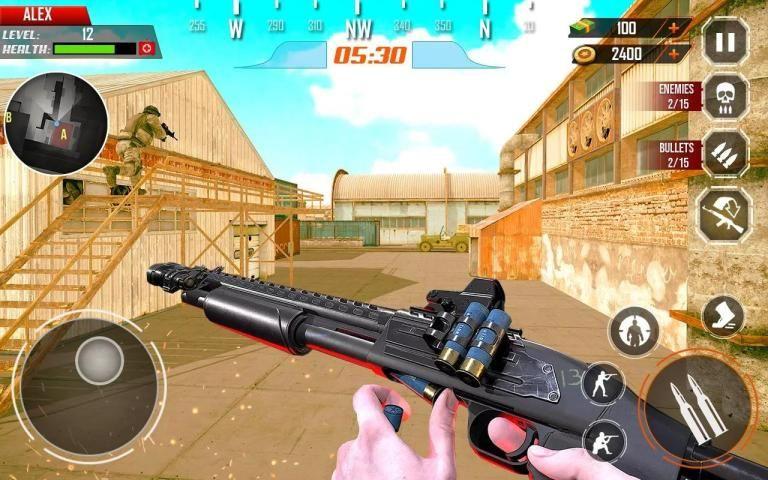Counter Terrorist Stealth Mission Battleground War screenshot 14