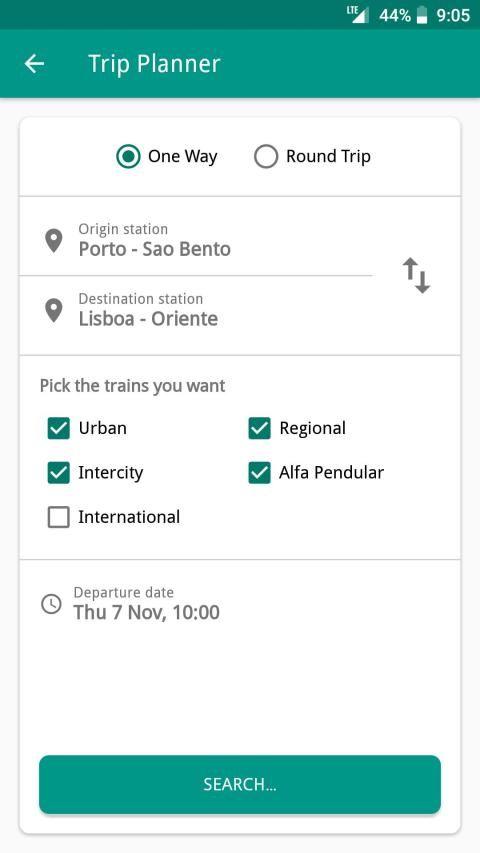 Catch UP - Portugal Trains screenshot 3