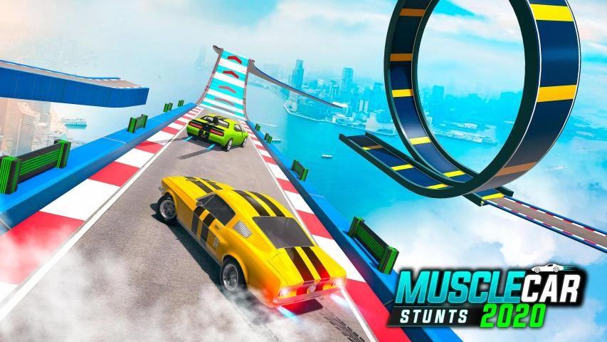 Muscle Car Stunts 2020: Mega Ramp Car Stunts Games स्क्रीनशॉट 1