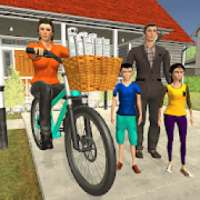 Working Mom Newspaper Girl Family Game أيقونة