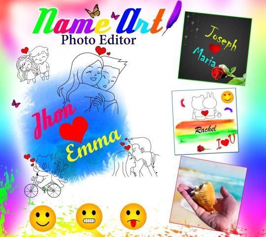 7Arts - Name Art Editor Focus n Filters Maker 2020 स्क्रीनशॉट 1