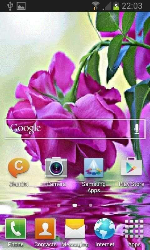 Purple Rose Swining LWP screenshot 2