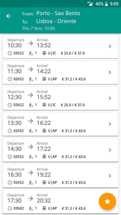 Catch UP - Portugal Trains screenshot 2